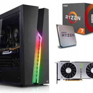 GAMER PC! Ryzen 7 2700X 16GB 512M.2 RTX2070Super