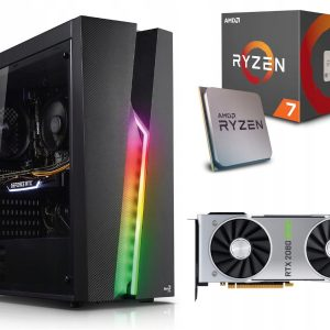 GAMER PC! Ryzen 7 2700X 16GB 512M.2 RTX2080Super