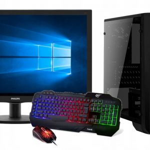 GAMER i3-9100F 240SSD 16GB GTX1660 MONITOR24 Win10