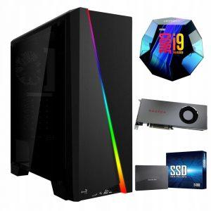 Komputer i9-9900K 480GB M.2 1TB RX5700XT 16GB W10
