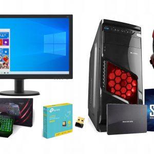 Zestaw 10 Rdzeni! 3,8GHz Radeon R7 8GB Monitor 22