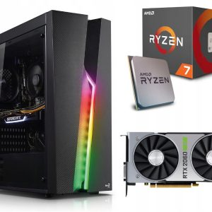 GAMER PC! Ryzen 7 2700X 16GB 512M.2 RTX2060Super
