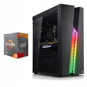 KOMPUTER RGB RYZEN 3100 16GB 480SSD GTX1050Ti W10
