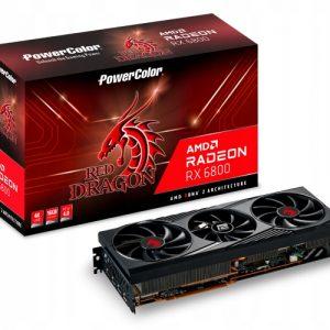 Karta PowerColor Radeon RX 6800 Red Dragon 16 GB