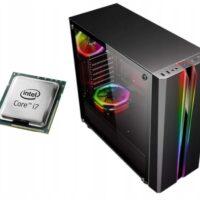 MEGA PC DO GIER i7 8GB 480SSD RX550 4GB W10
