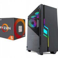 Komputer Ryzen 5 16GB 480SSD GTX 1050 Ti Monitor24