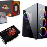 KOMPUTER DO GIER RGB RYZEN 3 16GB 480SSD GTX1050Ti