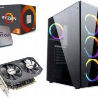 KOMPUTER DO GIER RGB RYZEN 3 16GB 480SSD RX550 4GB