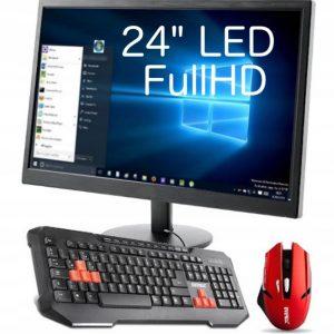 PROMOCJA! Monitor LED 24 FullHD + Klawiatura +Mysz