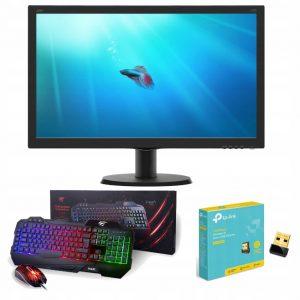 PROMOCJA! Monitor LED 24 FullHD + Klaw +Mysz+WiFi