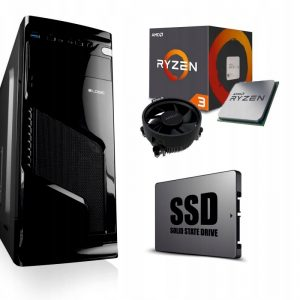 KOMPUTER DO GIER RYZEN 3 8GB DDR4 SSD GTX1050Ti 4G